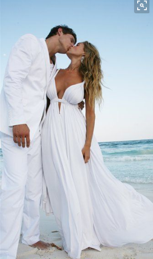 WD02 Deep V Neck Beach Wedding Dresses Spaghetti Straps White .