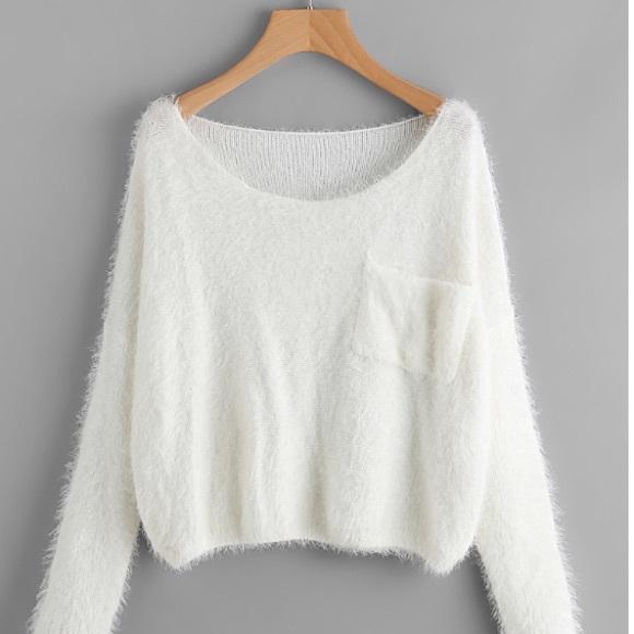 SHEIN Sweaters | White Knit Sweater | Poshma