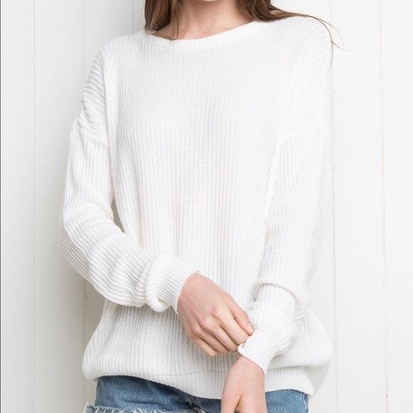 Brandy Melville Sweaters | White Knit Sweater | Poshma