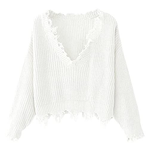 White Oversized Sweater: Amazon.c