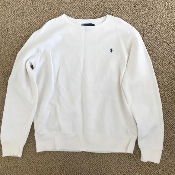 Polo by Ralph Lauren Sweaters | White Polo Ralph Lauren Sweatshirt .