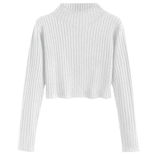 White Crop Top Sweater: Amazon.c
