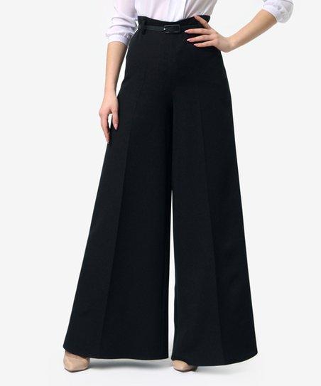 Lila Kass Black Wide-Leg Trousers - Women & Plus | Zuli