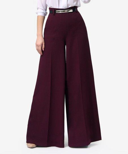 Lila Kass Purple Wide-Leg Trousers - Women & Plus | Zuli