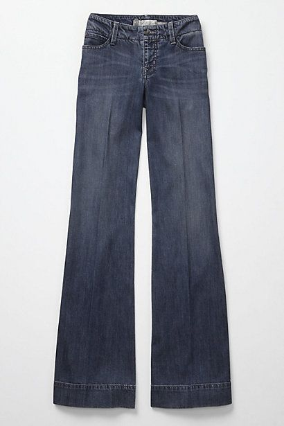 Wide-leg trouser jeans from Anthropologie--love, love, love .