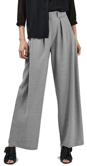 Topshop Wide Leg Trousers, $85 | Nordstrom | Lookastic.c