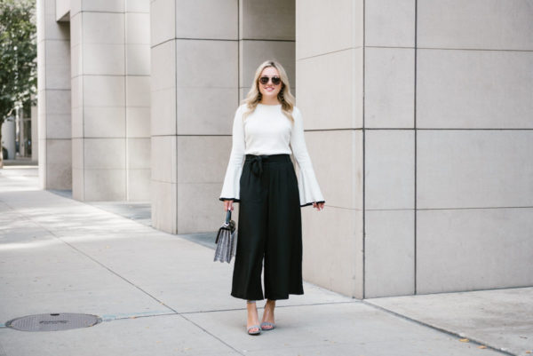 How to Wear High-Waisted Wide Leg Trousers — bows & sequi