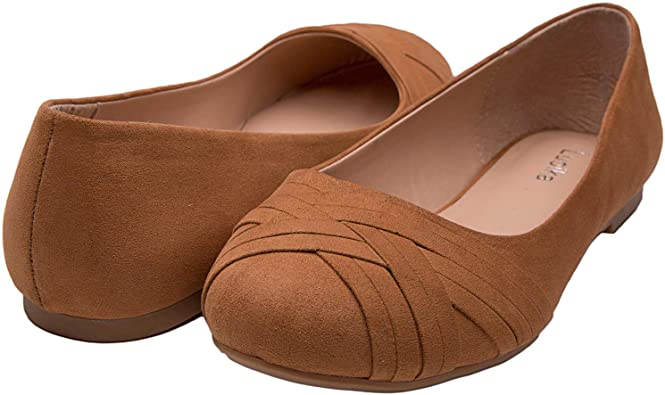 Amazon.com | Luoika Women's Wide Width Flat Shoes - Elastic Band .