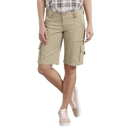"Dickies - Women's 11"" Relaxed Fit Cotton Cargo Short - Walmart.c"