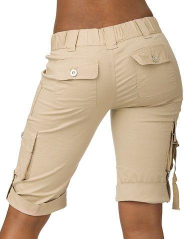 2012 Trendy Women's Cargo Shorts   Cargo shorts women, Clothes, Shor