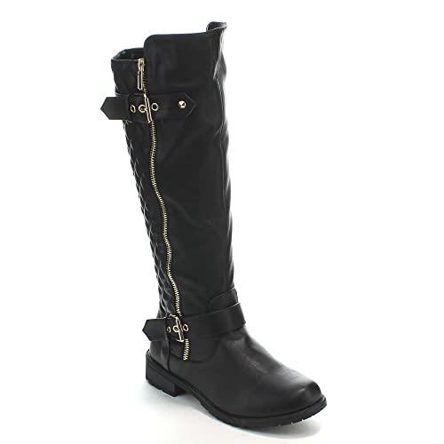 Women's Black Boots Size 11: Amazon.c