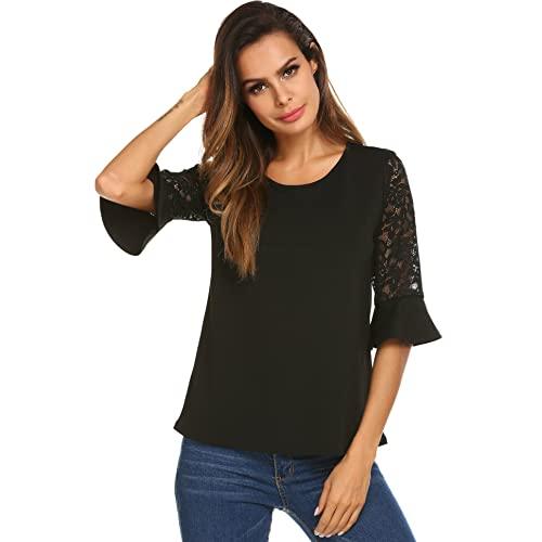 Black Dressy Tops: Amazon.c