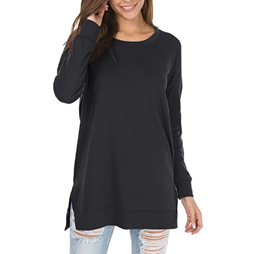 Black Long Sleeve Tops: Amazon.c