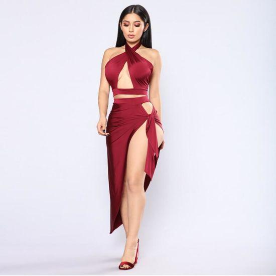 China 2019 Plus Size Webbing Sexy Women′s Dress Lady Bandage Skirt .