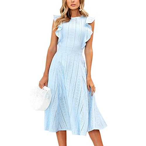 Pastel Blue Dress: Amazon.c