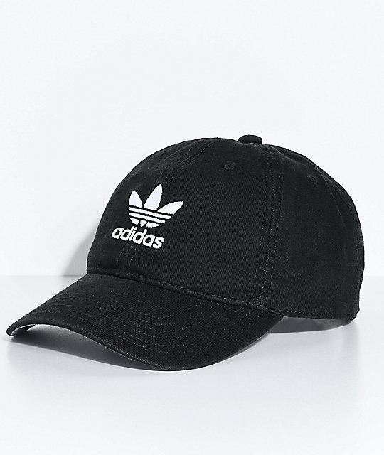 adidas Women's Black Strapback Hat | Zumi