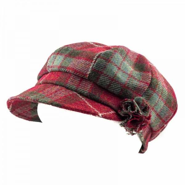 Womens Tartan Hat | One Size Hat | Red Fraser | Hatman of Irela