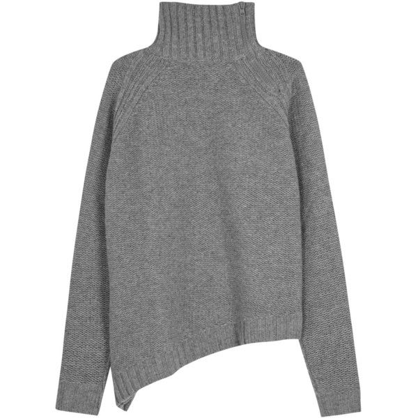 Womens Jumpers Joseph Grey Roll-neck Wool Jumper ($540) ❤ liked .