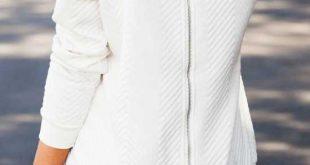 Warm Quilted Womens Jumper Zip Back - Australia Fashion - Warm .