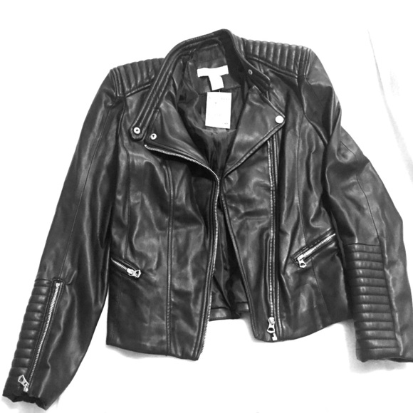 H&M Jackets & Coats | Hm Womens Leather Jacket | Poshma