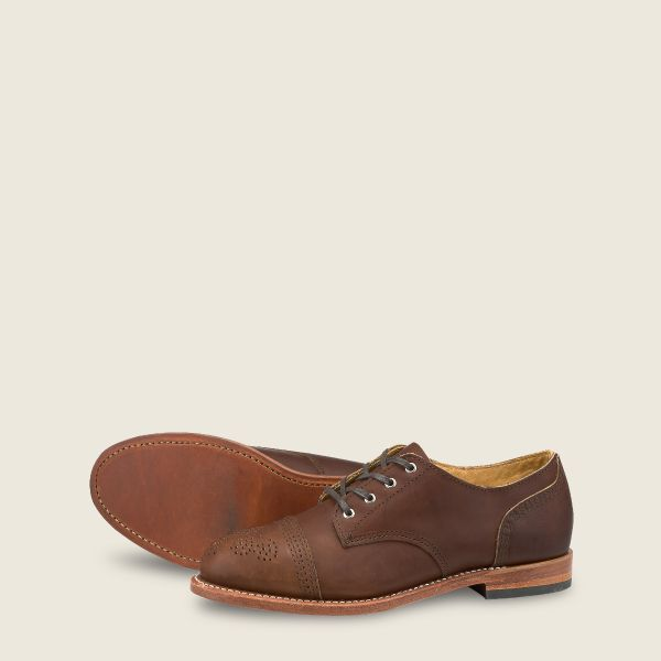 Women's Hazel Oxford in Dark Brown Leather 3436 | Red Wi