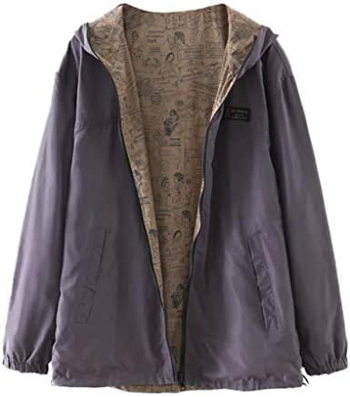 Dunacifa Women's Raincoats Windbreaker Rain Jacket Waterproof .
