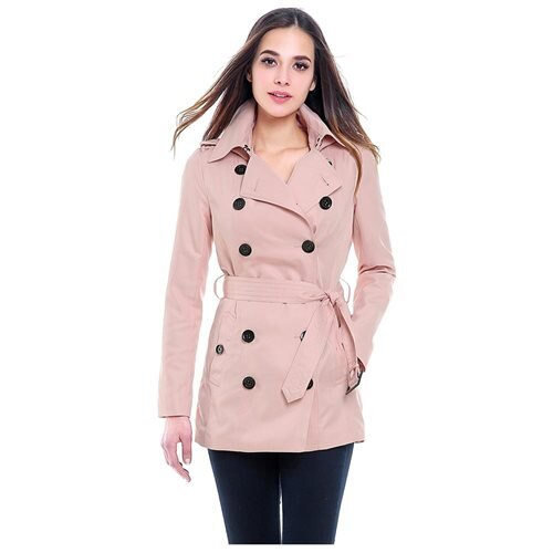 "Luxury Lane: BGSD Women's ""Tori"" Classic Hooded Short Trench Coat ."
