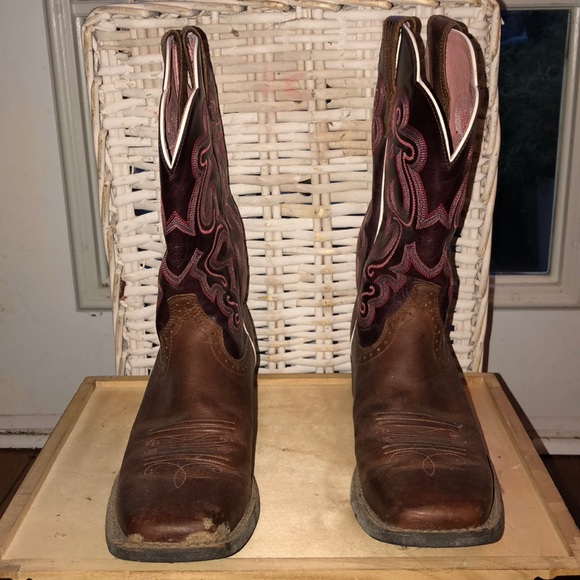 Ariat Shoes | Womens Western Boots Square Toe | Poshma