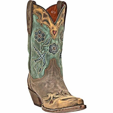 Dan Post Women's Vintage Blue Bird 11 in. Shaft Western Boot at .