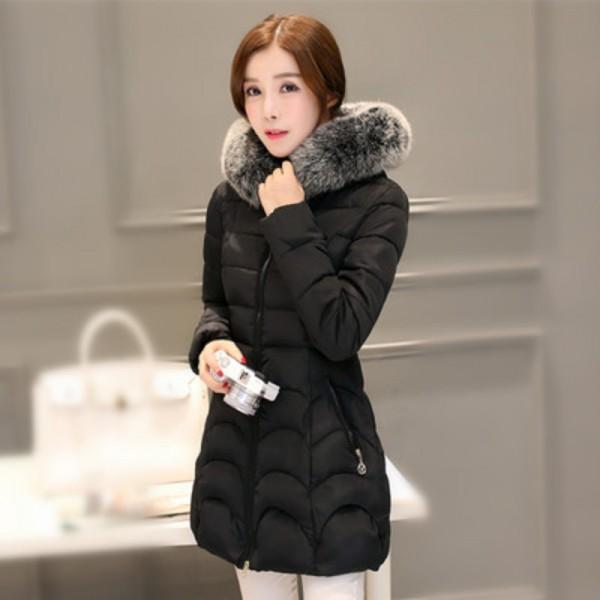 Buy JOLINTSAI 2017 New Winter Jacket Women Hooded Slim Womens .