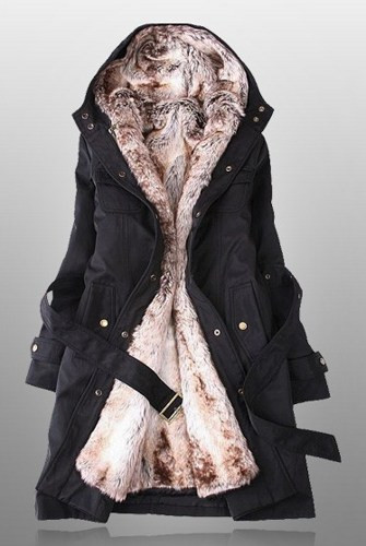 Winter Coats For Women With Faux Fur Lining In Black | Honolu on .