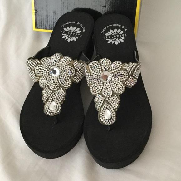 Yellow Box Shoes | New Premium Collection Wedge Sandal | Poshma