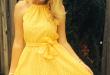 Gorgeous Yellow Sundress   Simple dresses, Yellow dress summer .